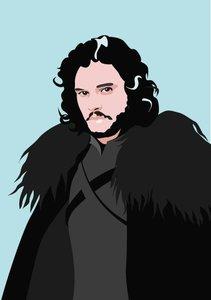 Pop Art Postcard | Games of Thrones - Jon Snow
