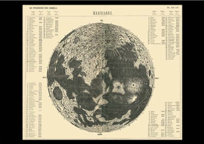 Postcard | Map of the Moon