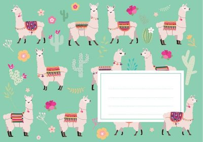 Envelope Set C6 - Lamas (crissXcross)