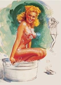 Postcard Pin Up | Bathtub