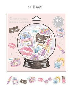 Snowglobe Sticker Flakes Sack | Make up items