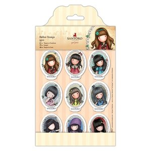 Gorjuss Mini Character Rubber Stamps - Santoro