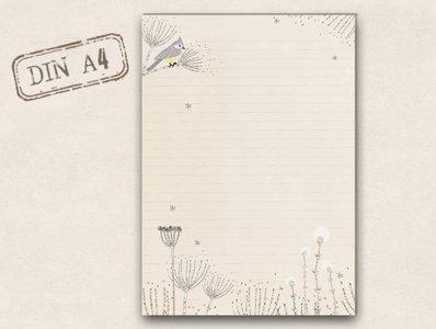 A4 Letter Paper Pad TikiOno | Crested tit
