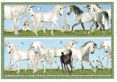 Postcard Edition Tausendschoen | Unicorns