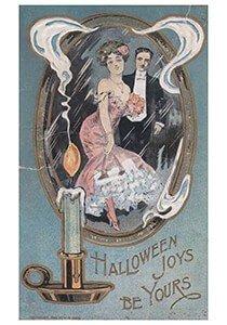 Victorian Halloween Postcard | A.N.B. - Halloween joys be yours