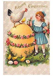 Victorian Postcard | A.N.B. - Easter greeting