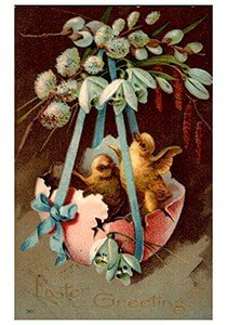 Victorian Postcard | A.N.B. - Easter greeting