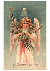 Victorian Postcard | A.N.B. - A Happy Easter