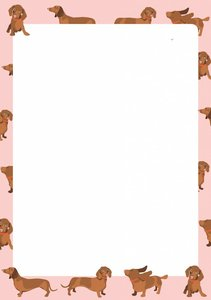 A5 Letter Paper Pad crissXcross | Dachshund