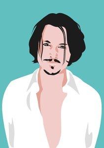 Pop Art Postcard | Johnny Depp