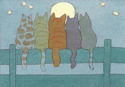 Dikkie Dik Postcards | Looking at the moon