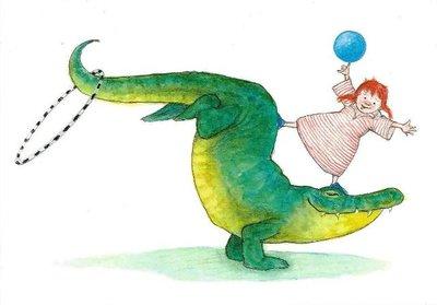 Gallery Cards Postcard | Ingrid & Dieter Schubert - Krokodil en Lotje
