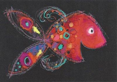 Gallery Cards Postcard | Mies van Hout - Vrolijke Vis