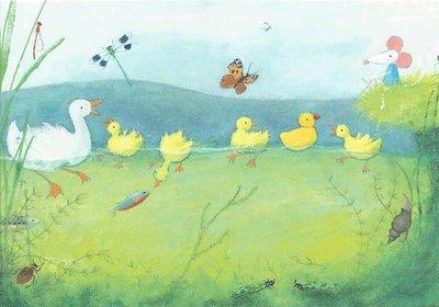 Gallery Cards Postcard | Mies van Hout, Alle eendjes zwemmen in het water