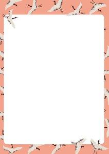 A5 Letter Paper Pad crissXcross   Kraniche