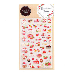 Flat Seal Sticker | Strawberry Dessert