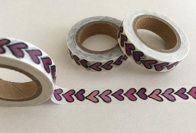 Washi Masking Tape | Small Purple Hearts