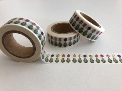 Washi Masking Tape | Coloured Tulips Individual