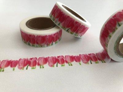 Washi Masking Tape | Red Tulips