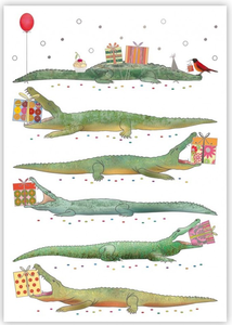 Postcard | Crocodile with Gifts