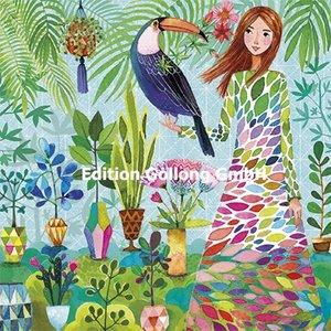 Mila Marquis Postcard | Woman with Bird