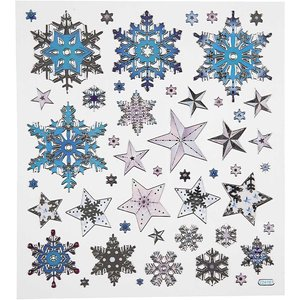 Seal Sticker with Silver Foil | Snow Crystals