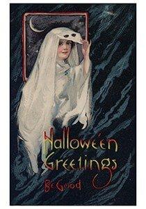 Victorian Halloween Postcard | A.N.B. - Halloween greetings