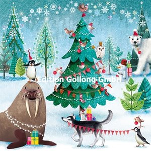 Mila Marquis Postcard Christmas   Animals in the forest
