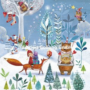 Mila Marquis Postcard Christmas | Winter Animals