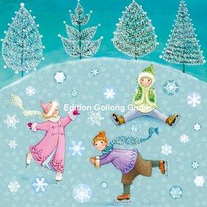 Mila Marquis Postcard Christmas | Skating Kids