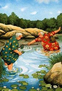 Inge Look Nr. 58 Postcard | Old Ladies Aunties