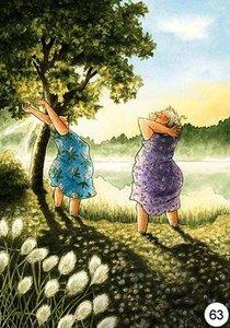 Inge Look Nr. 63 Postcard | Old Ladies Aunties