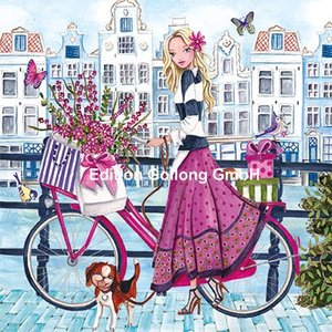 Cartita Design Postcard | Woman with bicycle
