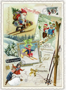 Postcard Edition Tausendschoen Christmas | Merry Christmas - Collage
