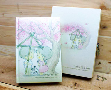 Amy and Tim Diary Book Journal   Sakura