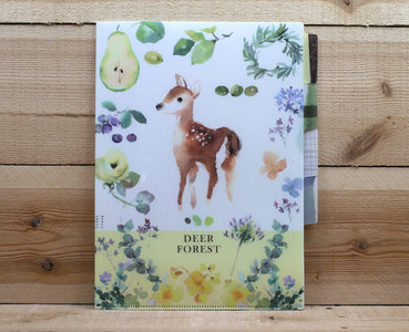 Lian Feng Collection A4 Plastic File Folder | Forest Deer