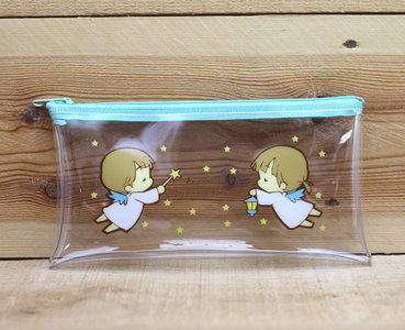 Amy and Tim Transparent Pencil Case Zipper Bag | Little Angel