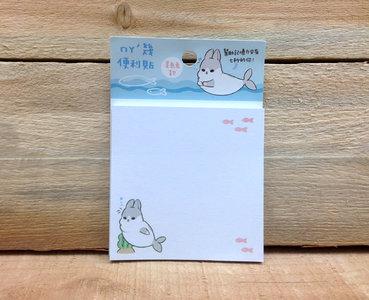 Yukiji Rabbit Fish Sticky Notes