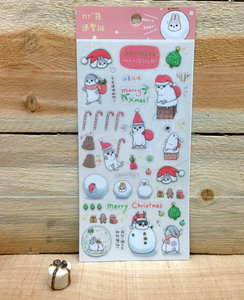 Machiko Bunny Christmas Stickers