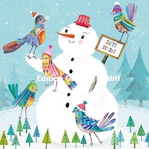 Mila Marquis Postcard Christmas | Snowman