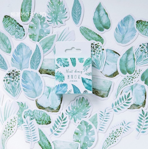 Sticker Flakes Box | Mint Diary - Cute Leaves
