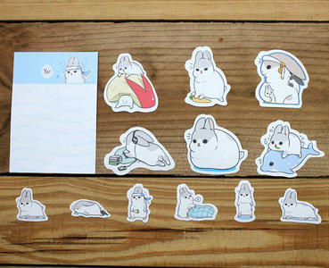 Machiko Bunny Waterproof Stickers