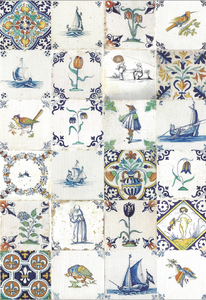 Museum Cards Postcard | Dutch Tiles