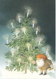 Hjelm Förlag Postcard | julgranen (Christmas Tree)