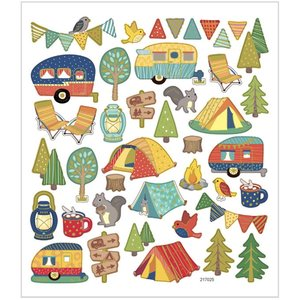 Seal Sticker with Gold Foil | camping