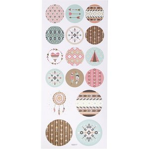Round Seal Sticker with Gold Foil | Indian