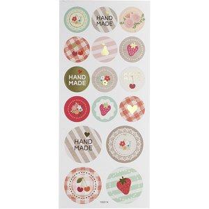 Round Seal Sticker with Glitter Foil | Handmade