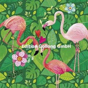 Mila Marquis Postcard   Flamingos