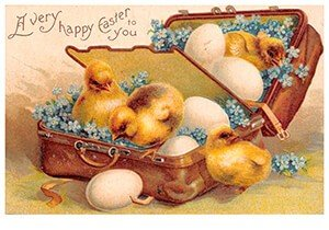 Victorian Postcard | A.N.B. - A very happy easter to you