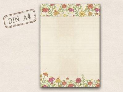 A4 Letter Paper Pad TikiOno | Summer